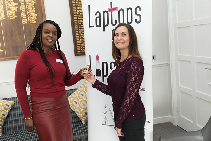 Charity Begins at Laptops & Lipstick